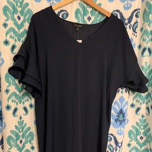 Banana Republic bell sleeve navy dress